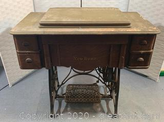 Vintage Newhome Sewing Machine Table