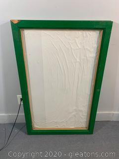 Green Wooden and Glass Fold Up Display Case