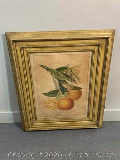 "Framed Wall Art ""Tuscany Citrus II"""