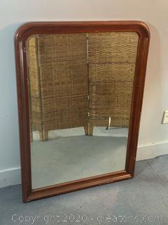 Large Wooden Wall Mirror