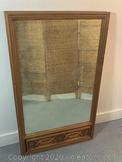 Large Rectangle Mirror with Floral Design