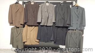 10 Mens Designer Brand Suits Lot B