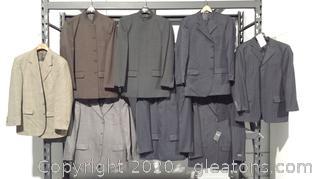8 Mens Designer Brand Suits Lot C