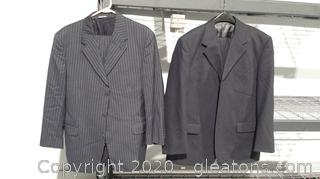 2 Mens Mixed-Size Suits