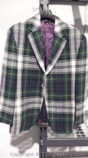 Tommy Hilfiger Plaid Wool Coat with Removable Liner