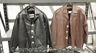 2 Brand New Leather Coats Size 2XL