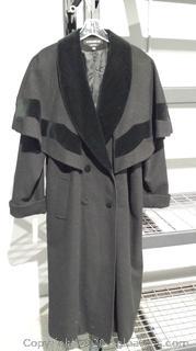 Ladies Full Length Wool Coat