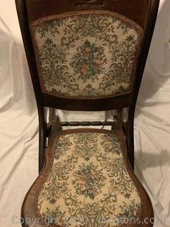 Victorian Style Rocking Chair with Beautiful Tapestry Pattern