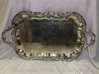 Silver Oval Plater