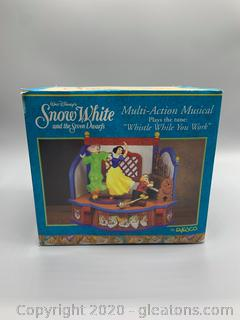 Vintage Enesco Disney Snow White and The Seven Dwarfs Multi- Action Musical