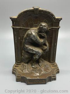 "Small Iron Replica of the ""Thinker"""