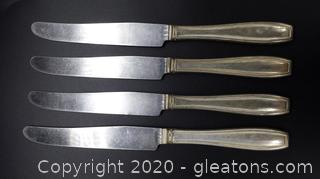 Set of 4 National Silver Co. Knives