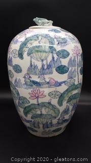 Chinese Urn with Frog Lid