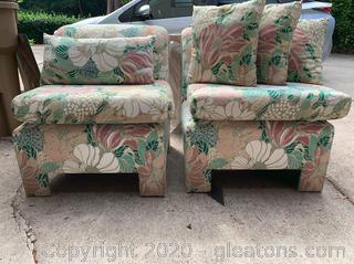 Pair of Low Seated Chairs