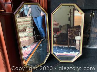 Transitional Style Design Mirror Pair