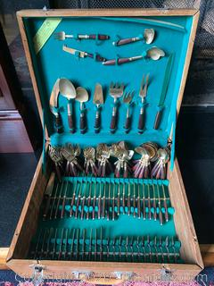 Collection of Brass and Rosewood Servingware From Thailand