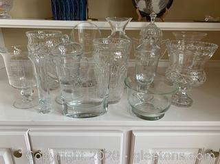 Large Collection of Crystal and Glass Golf Trophies