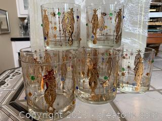 Mid Century Rocks Glass Collection Halian