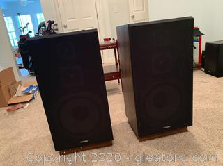 Vintage 100Watt Fisher Speakers