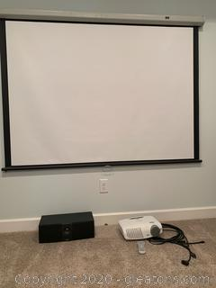 Optoma HD20 DLP Projection Display and Draper Projection Screen