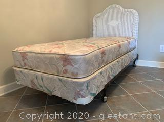 Wicker Twin Bed B