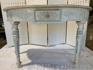 Antique Halfmoon Table