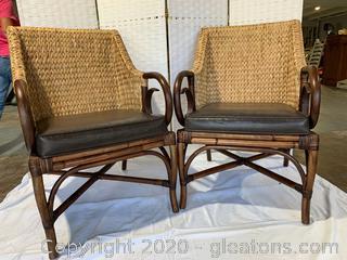 Rattan Chair Set E