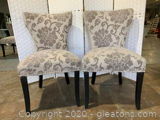 Modern Accent Chairs-Pair