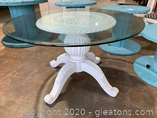 Shabby Chic Glass Top Table