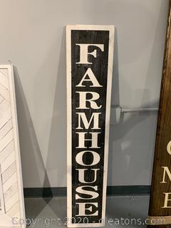 Farm House Sign