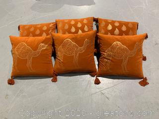 Burnt Orange Accent Pillows