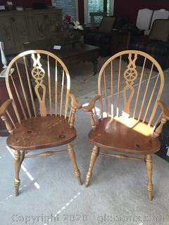 Vintage Ethan Allen Farm House Dining Chairs