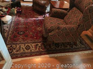 Large Hand Knotted Area Rug (A)