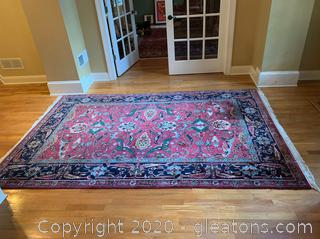 Large Hand Knotted Area Rug  (B)