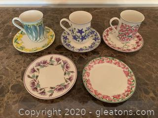 Assorted Mugs & Saucers