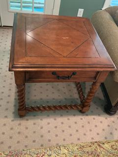Balustrade Barley Twist End Table (B)