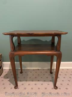 Vintage 2 Tier End Table