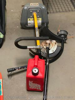 Garden Tools and Gas Can