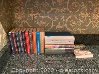 Assortment of Snickett & Rowling Books