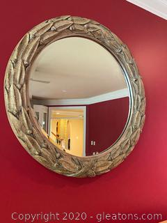 Hand Carved Vintage Mirror