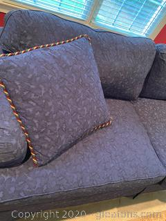 Vintage Navy Patterned Sofa