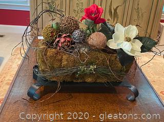 Decorative Planter with Faux Plants