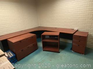 Bush Furniture Rolling Office Drawers and Shelf