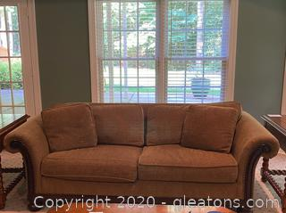 Vintage Berhardt Woven Couch (A)