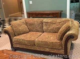 Bernhardt Vintage Woven Patterned Couch