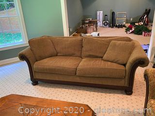 Vintage Bernhardt Woven Couch (B)
