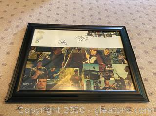 Signed Brine Photo Collage by Lacrosse Players