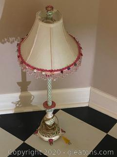 Vintage Floral Table Lamp