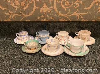 Assortment of Tea Cups & Saucers