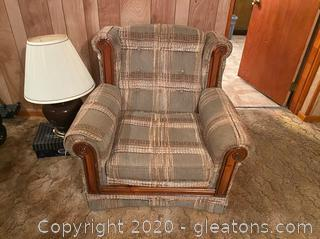 Vintage Plaid Highback Chair